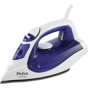 Ferro-a-Vapor-Philco-com-Spray-e-Base-Ceramica-PFV310-Azul-127V-