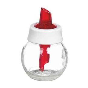 Acucareiro-Vidro-180ml-Dulce-Lyor-Transparente-e-Vermelho