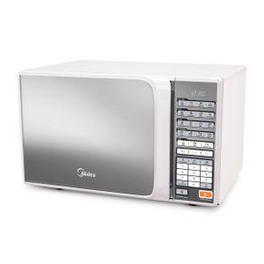 Forno-Micro-ondas-30L-Midea-com-10-Niveis-de-Potencia-Espelhado-Liva-MTAE41-Branco-127V