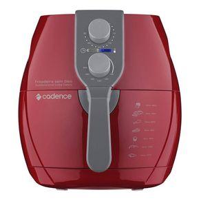 Fritadeira-sem-Oleo-Cadence-com-Timer-Perfect-Fryer-FRT541-Vermelha-127V