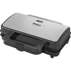 Sanduicheira-Grill-Philco-Inox-PGR02I-Preta-Prata-127V-
