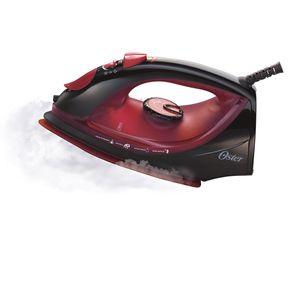 Ferro-a-Vapor-Oster-com-Spray-e-Base-de-Ceramica-Steam-Iron-5966-Preto-Vermelho-127V