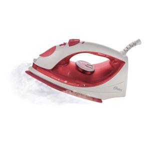Ferro-a-Vapor-Oster-com-Spray-e-Base-Antiaderente-Steam-Iron-5917-Branco-Vermelho-127V