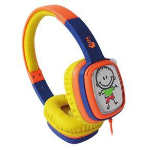 Fone-de-Ouvido-com-Alca-Kids-Cartoon-OEX-HP302-Amarelo-e-Roxo
