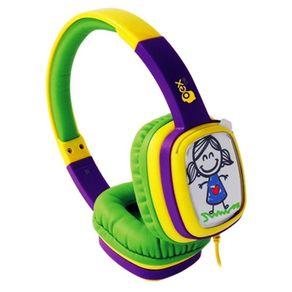 Fone-de-Ouvido-com-Alca-Kids-Cartoon-OEX-HP302-Amarelo-e-Verde