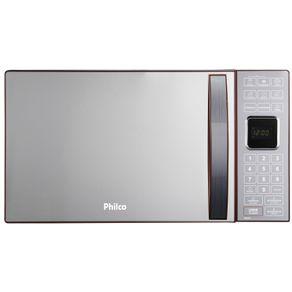 Forno-Micro-ondas-25L-Philco-com-Iluminacao-Interna-Espelhado-PME25V-Vermelho-127V