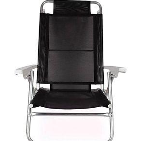 Cadeira-de-Praia-6-Posicoes-Aluminio-Sol-de-Verao-2155-Mor-Preta-