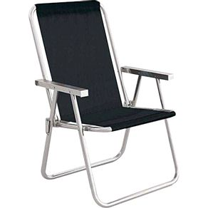 Cadeira-de-Praia-Alta-Aluminio-Conforto-Sannet-2159-Mor-Preta-