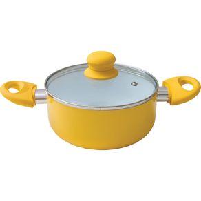 Cacarola-18cm-Ceramica-com-Tampa-Vidro-Casa-do-Chef-Amarela-