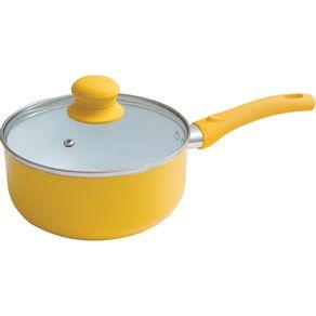 Panela-18cm-Ceramica-com-Tampa-de-Vidro-Casa-do-Chef-Amarela-