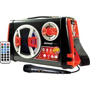 Caixa-Amplificada-Amvox-ACA120-com-MP3.-FM.-Karaoke.-Bluetooth.-Controle-Remoto-65WRMS-e-Entradas-USB.-SD-e-Auxiliar-