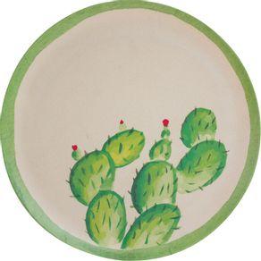 Prato-Fibra-de-Bambu-Raso-25cm-Anji-Cactus-