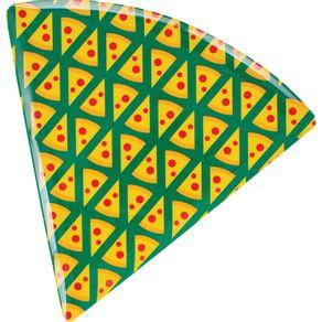 Prato-para-Pizza-de-Melamina-Triangular-22cm-CV151667-Pedacos-