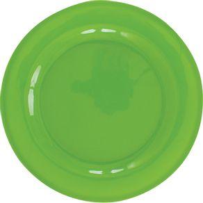 Prato-de-Melamina-Raso-25cm-Liso-Verde-