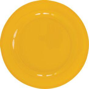 Prato-de-Melamina-Raso-25cm-Liso-Amarelo-