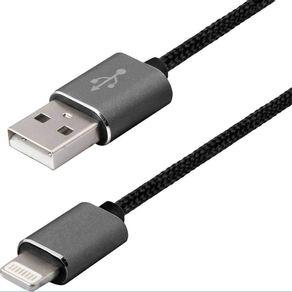 Cabo-Premium-Lightning-3m-para-iPhone-Easy-Mobile-Preto