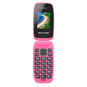 Celular-Multilaser-Flip-Up-P9023-Desbloqueado-Dual-Chip-e-Camera-Rosa