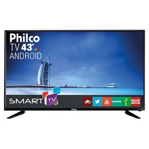 Smart-TV-LED-43--Full-HD-Philco-PH43N91DSGWA-com-Conversor-Digital-2-HDMI-e-2-USB-Preta