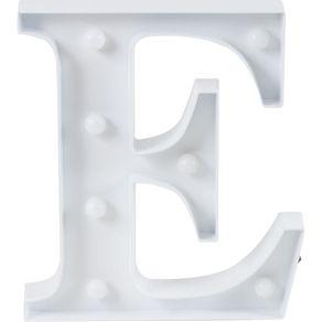 Luminaria-Led-Decorativa-Letra-E-CV151655-Cazza-Branca-
