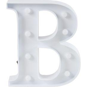 Luminaria-Led-Decorativa-Letra-B-CV151652-Cazza-Branca-