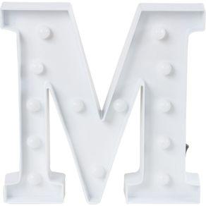Luminaria-Led-Decorativa-Letra-M-CV151658-Cazza-Branca-