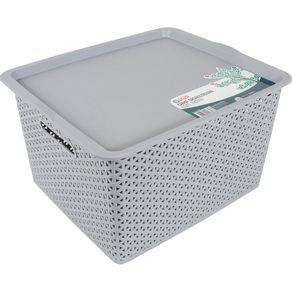 Caixa-Organizadora-19L-com-Tampa-CV151727-Ogza-Cinza-