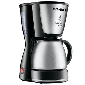 Cafeteira-15-Xicaras-Mondial-Dolce-Arome-C-34-com-Jarra-Inox-Preta-e-Prata-127V
