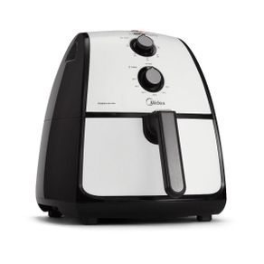 Fritadeira-sem-Oleo-4L-Midea-Liva-Air-Fryer-FRA41-Branca-e-Preta-127V