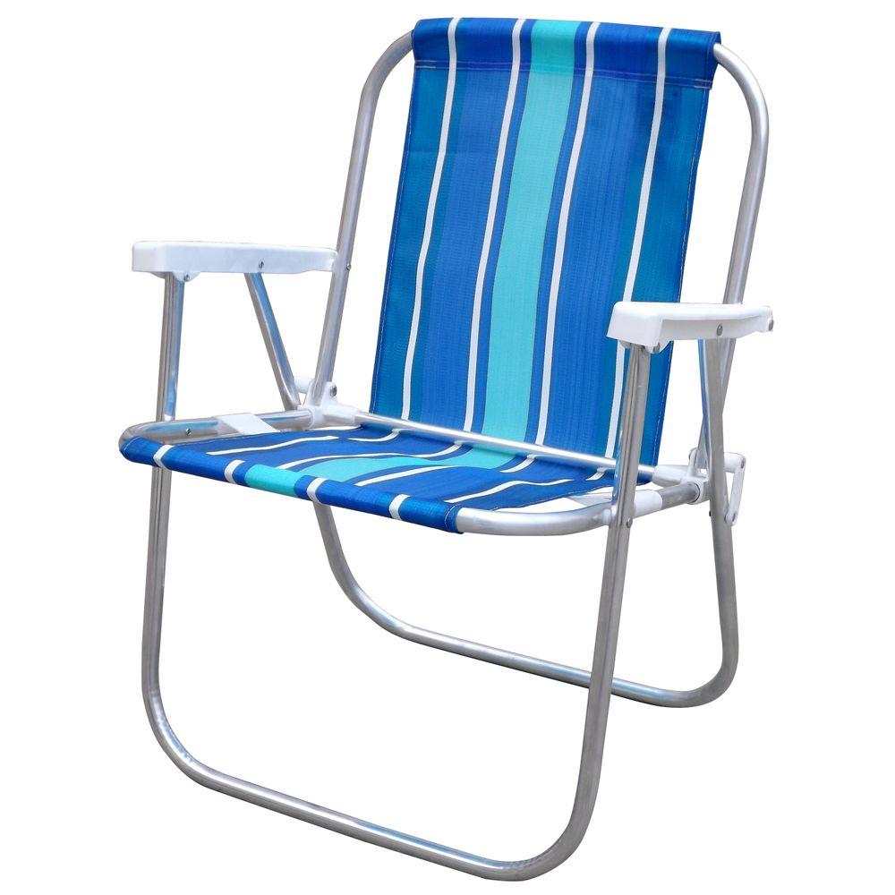 Cadeira de Praia Alta Alumínio 047 Botafogo Lar   Lazer - Casa e Video ba57d64123723