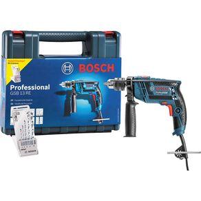 Kit-Furadeira-de-Impacto-650W-1-2--Bosch-Profissional-GSB-13-RE-com-Maleta-e-5-Brocas-127V