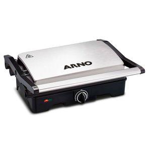 Grill-Arno-Dual-Inox-GNOX-com-Coletor-de-Gordura-127V