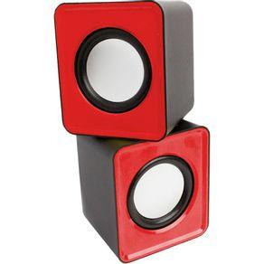 Caixa-de-Som-6WRMS-Pisc-1862-USB-Vermelha