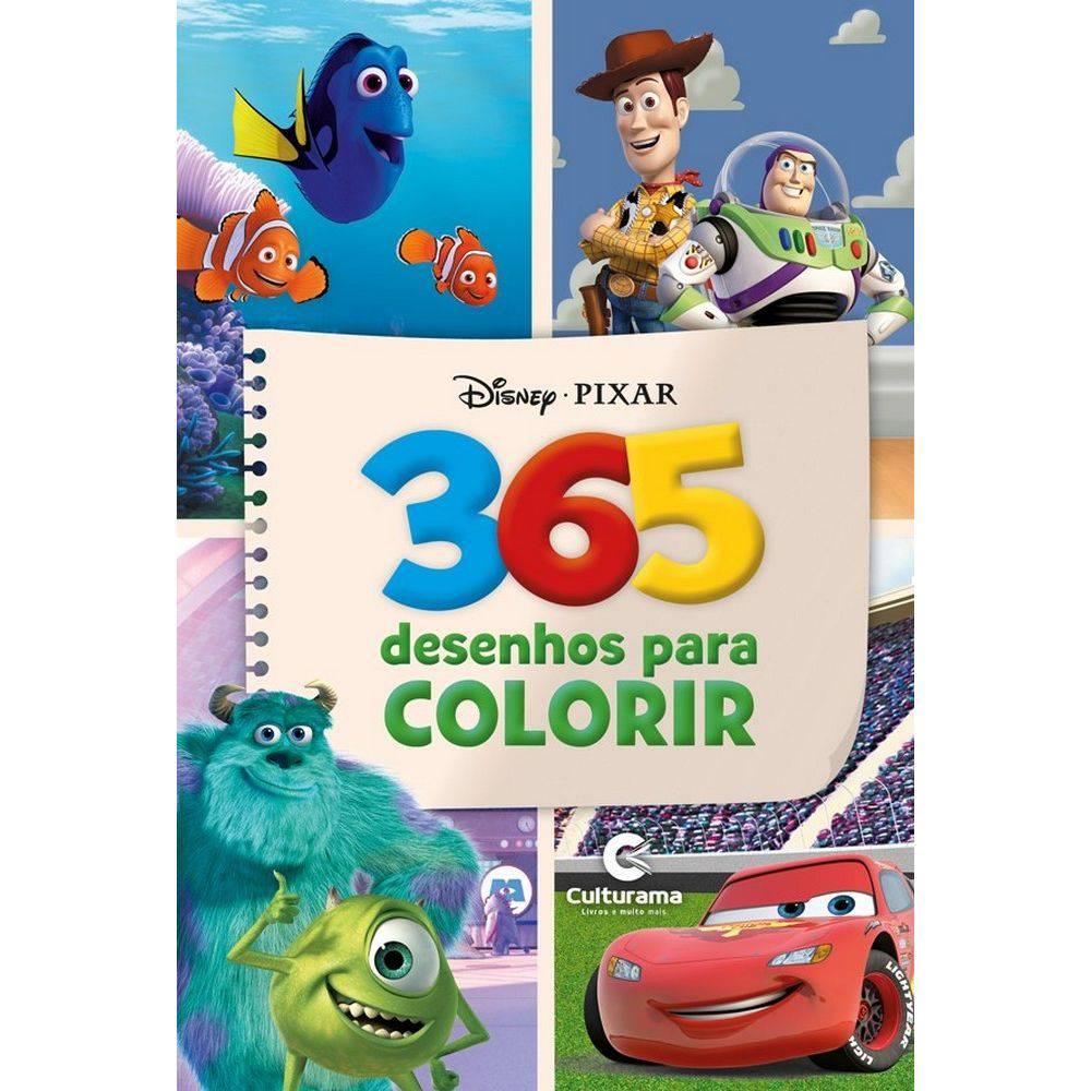 Livro Infantil 365 Desenhos Disney Culturama Meninos Casa E Video