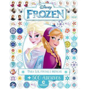 Livro-Infantil-com-500-Adesivos-Disney-Culturama-Frozen