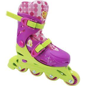 Kit-Patins-Belinda-Ajustavel-33-36-com-Acessorios-DM-Toys-Rosa