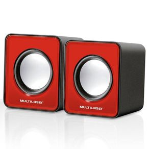 Caixa-de-Som-2.0-3WRMS-Multilaser-Mini-SP197-USB-Vermelha
