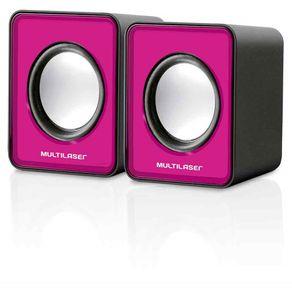 Caixa-de-Som-2.0-3WRMS-Multilaser-Mini-SP198-USB-Rosa