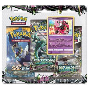 Jogo-de-Cartas-Pokemon-Sol-e-Lua-Blister-Triplo-Tempestade-Celestial-Copag-