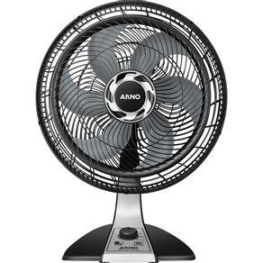 Ventilador-de-Mesa-Arno-Silence-Force-40cm-com-3-Velocidades-e-Potencia-de-126W-VF40-Preto-Prata-127V