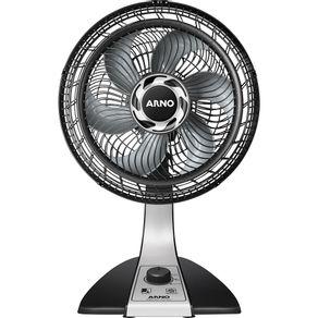 Ventilador-de-Mesa-Arno-Silence-Force-30cm-com-3-Velocidades-e-Potencia-de-60W-VF30-Preto-Prata-127V-