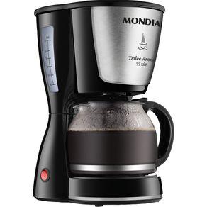 Cafeteira-32-Xicaras-Mondial-Dolce-Arome-Inox-C-32-Preta-Prata-127V-