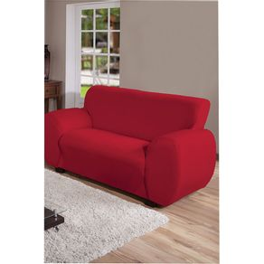 Capa-para-Sofa-2-Lugares-Arte---Cazza-Malha-Gel-Vermelha-