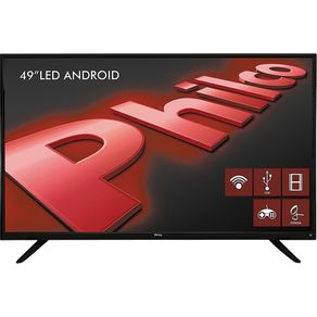 TV-Android-LED-49--Philco-Full-HD-com-Conversor-Digital.-Entradas-2-HDMI-e-2-USB-PH49F30DSGWA-Preta