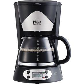 Cafeteira-Eletrica-14-Xicaras-Philco-PH14-com-Timer-e-Visor-Digital-Preta-e-Prata-220V