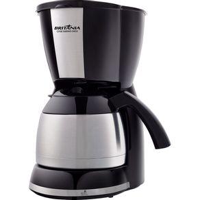 Cafeteira-Eletrica-38-Xicaras-Britania-Thermo-CP38-com-Jarra-Inox-Preta-e-Prata-220V