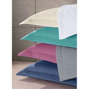 Porta-Travesseiro-53x80cm-Neo-Malha-Hedrons-Azul-Cobalto-