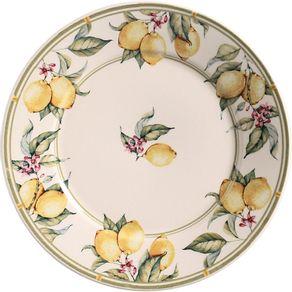 Prato-de-Ceramica-Raso-26cm-Porto-Brasil-Monaco-Limone-