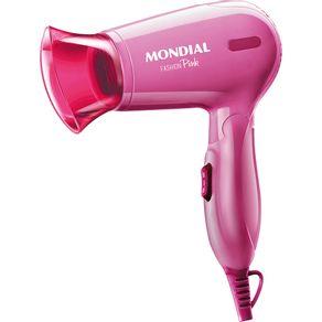 Secador-de-Cabelo-Portatil-Mondial-Fashion-Pink-II-SC-14-Bivolt-