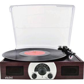 Toca-Disco-Bluetooth-10WRMS-Vicini-Classic-Retro-VC-283-Entradas-USB-e-SD