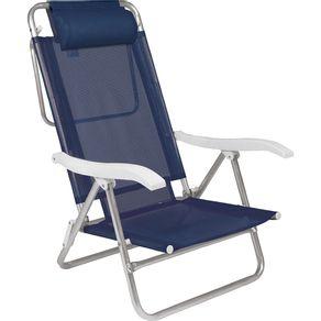 Cadeira-de-Praia-6-Posicoes-Aluminio-com-Almofada-Sol-de-Verao-2490-Mor-Azul